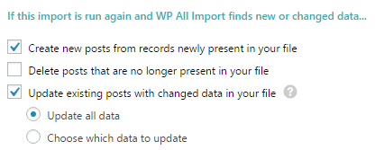 WP All Import - Gestion des doublons et MAJ
